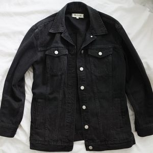 Medal black denim jacket